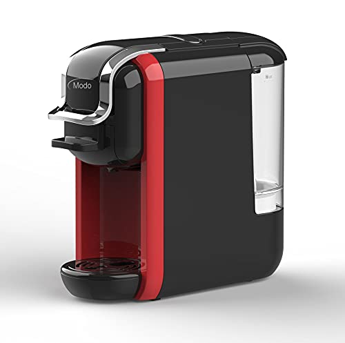 Cafetera Viva 3 Multicompatible con cápsulas Nespresso, Dolce Gusto y Café Espresso Molido, 19 bares de presión,1450W, Color Rojo+Negro o Rojo+Blanco
