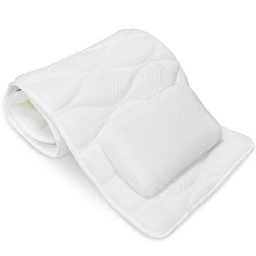 Cojín de baño Las almohadas de baño - Full-Body Spa Bañera amortiguador de la almohadilla, 3D transpirable Cojín Miente Con antideslizante de la taza de la succión, Bañera Cojín con la almohadilla cóm