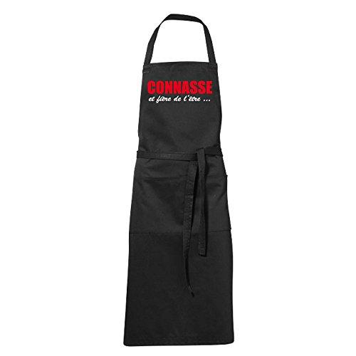 stylx design Tablier humoristique de cuisine noir Connasse et fière de l'être