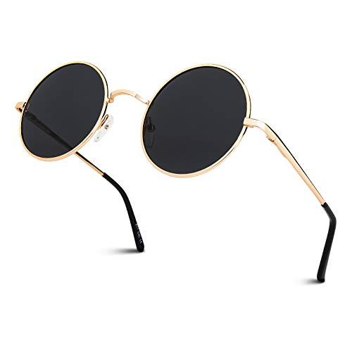 GQUEEN Classic Lennon Ronda gafas de sol polarizadas con...