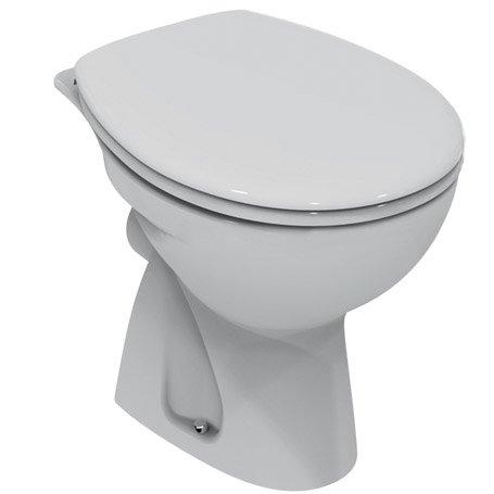 Ceramica Dolomite E886401 QUARZO Vaso a cacciata. Da completare con sedile - Bianco
