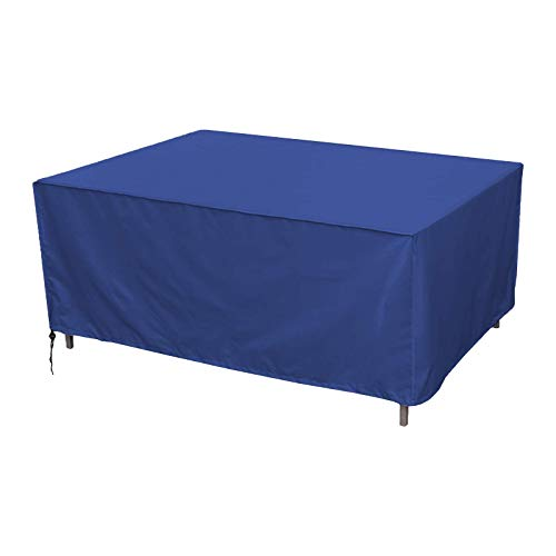 BUDBYU Garden Furniture Cover, Outdoor Furniture Covers, Patio Furniture Covers Waterproof Rectangular Windproof and Anti-UV Garden Table Covers