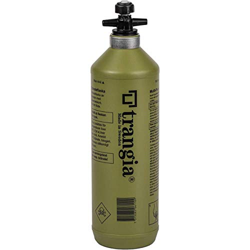 Trangia Flüssigbrennstoff-Sicherheitstankflasche 1.0 L mit Verschluss Farbe: Oliv