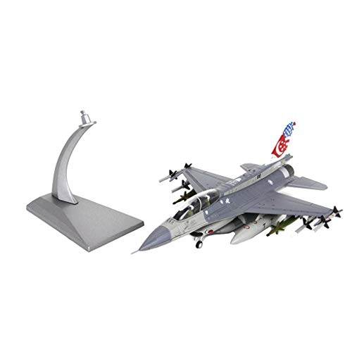 SM SunniMix 1/72 Scale American F16D Fighting Falcon Fighter Aircraft - Diecast Model with Stand