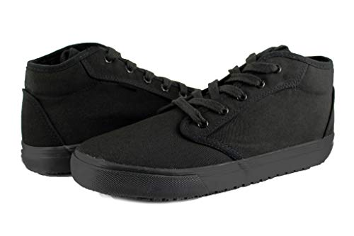 Townforst Cheryl Slip Resistant Black Sunbrella Mid Top Water Resistant Non Slip Waitress Shoes (11)