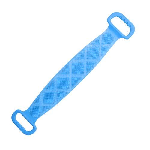 Serviette de bain en silicone doux pour récurer le dos Serviette de bain douce Serviette de friction arrière pour la maison (bleu ciel)