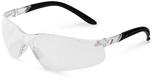 NITRAS Vision Protect Schutzbrille - Arbeitsbrille aus Polycarbonat mit UV-Schutz - Passend für Erwachsene (Damen & Herren) - Klar (Transparent)