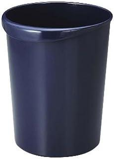 リス 『ゴミ箱』 WORK&WORK くず入れ 丸型 12L ダークブルー