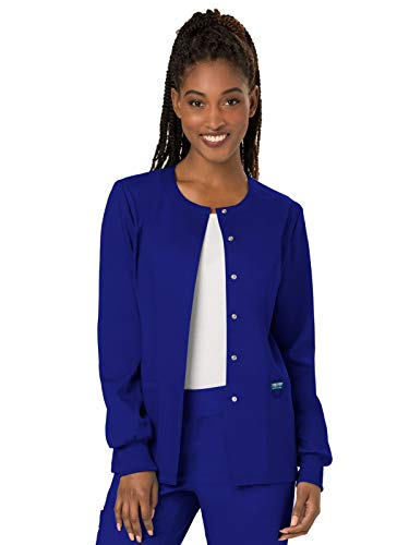 Cherokee Women's Snap Front Warm-up Jacket, Galaxy Blue, X-Large