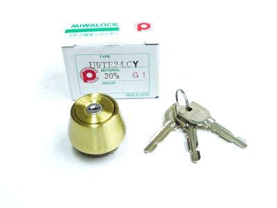MIWA(美和ロック) U9シリンダー LSPタイプ TE22 鍵 交換 取替え MCY-151 LSP/SWLSPゴールド色(BS)33〜42mm