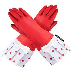 Gloveables Red Gloves with Red Polka Dot and White Bow