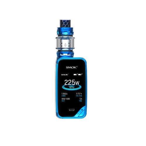 """SMOK X-Priv Cigarette Electronique Kit Avancé, Affichage 2"""" HD OLED avec TFV12 Prince 2ml atomiseur, Cigarette Électronique VW TC Temp Control, Sans Nicotine Ni Tabac (Bleu)"""