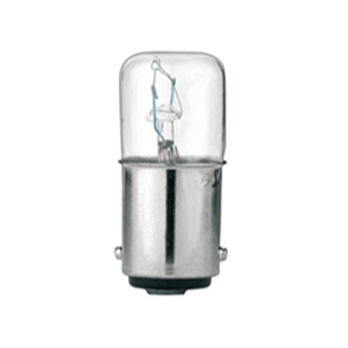 Lámpara incandescente con bombilla de filamento, 5W, cristal transparente para BA15d, 12V AC / DC, 12 x 3 x 12,5 centímetros, color gris claro (Referencia: LT7ALBA)