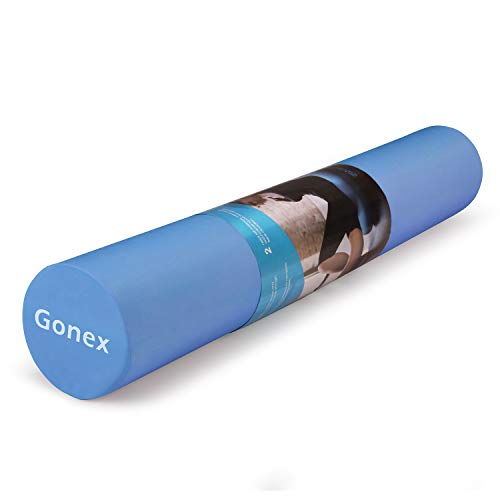 Gonex - Rullo per fitness, in schiuma, per esercizi schiena, allungamento, massaggi e pilates, Blu, 90 cm