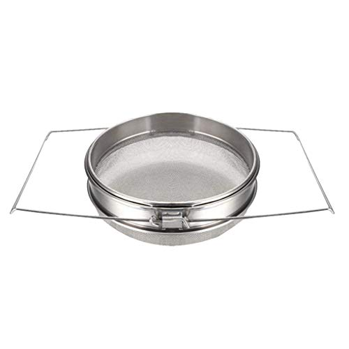 Affordable GreatGiftList Stainless Steel Honey Strainer Double Sieve | Bee Keeping Equipment Filter,...