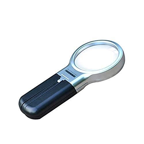 YUIOLIL HD Magnifier 20 Times,with Light Handheld Magnifying Glass for Inspection, Soldering, Needlework, Repair Etc Magnification Tool Microscope