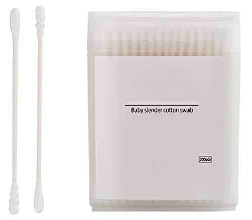 Cotons-tiges de sécurité 200 pièces Coton-tige à double pointe Bâtons de nettoyage polyvalents #7