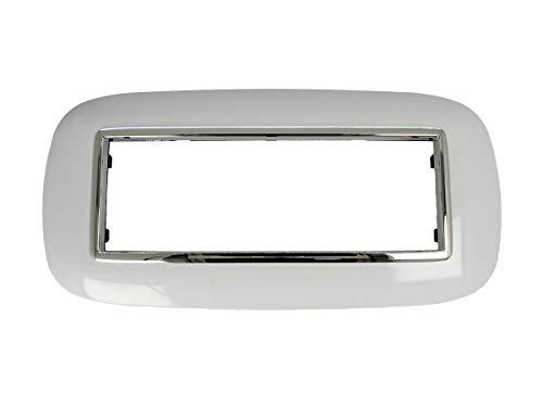 SANDASDON SD22006 Placca Oval 6M Bianco Compatibile Bticino Axolute