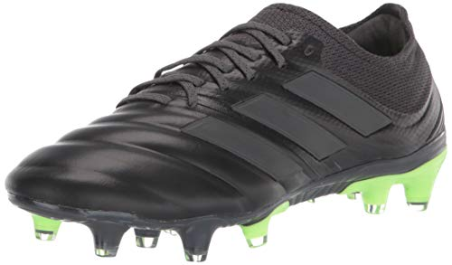 adidas Men's Copa 20.1 Firm Ground Soccer Shoe, Black/Black/Signal Green, 10