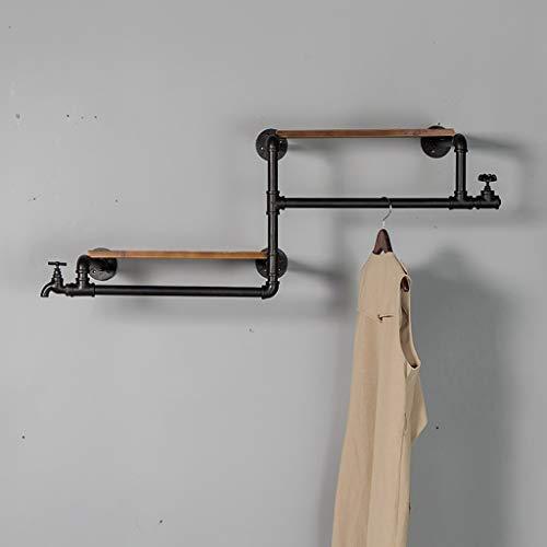 BXU-BG Armario de madera maciza retro de hierro para colgar en la pared, decoración del hogar, sala de estar, dormitorio, pasillo (115 x 40 cm)