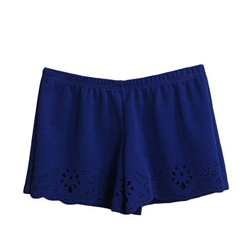 Quge Elastici Confortevole Pantaloncini Pantaloni di Sicurezza di Seta Safety Shorts Mutande Invisibili di Sicurezza Marina Militare M