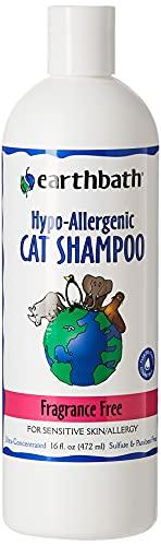 Earthbath Hypo-Allergenic Cat Shampoo, Fragrance Free 16 oz