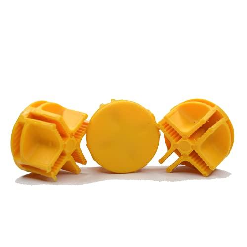 Exhibiplus Conector de Plástico Amarillo para mejorar la vista de tus cubos de organización, Uniones mejoradas de espacios organizadores, paquete con 24 piezas.