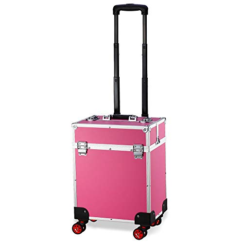 Gorilla GC-340P Professional Cosmetics Trolley Beauty Therapist Hairdresser Travel Case Pink