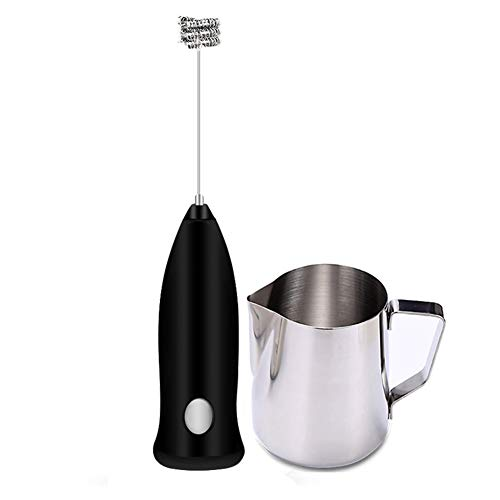 Milk Frother, Stainless Steel Garland Cup, Electric Coffee Whisk, Latte, Smoothie, Matcha, Hot Chocolate Mini Hand-held Foam Machine Blender, Including 16 Molds.