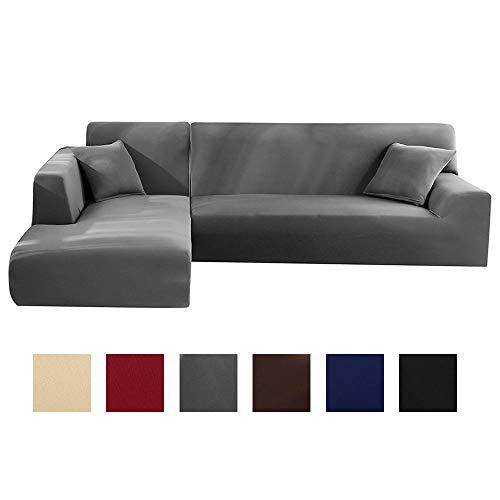 Enjoygoeu - Funda elástica para sofá con chaise...