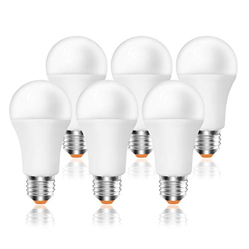 Bombilla LED E27, 12W (equivalente a 96W), 960lm,6500K luz fría - 6 unidades [Clase de eficiencia energética A+] (6500K)