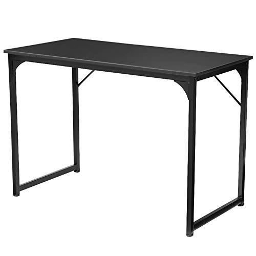 Belleashy Escritorio de ordenador de escritorio de oficina de 43 pulgadas de ancho Mesa de marco de acero impermeable para trabajo estudio escritura, etc