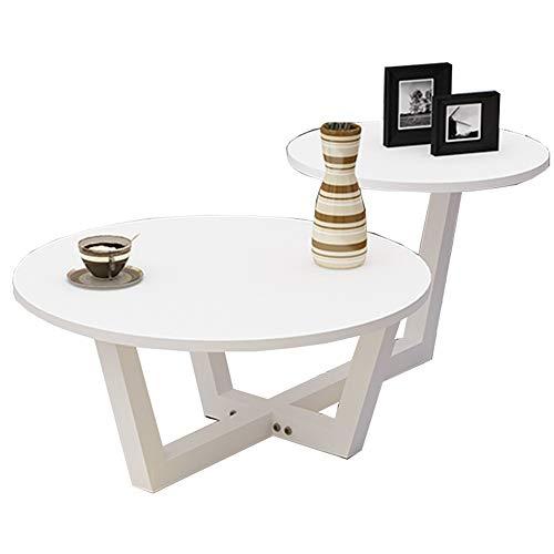 Zaixi Table d'appoint en Bois Massif avec 2 Tables Basses Rondes de Table Table d'appoint Table à revues avec Rangement (6 Couleurs Disponibles) Forte capacité portante (Couleur : F)