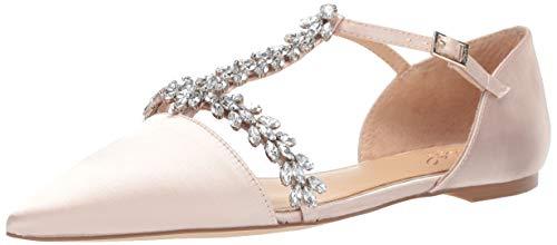 Jewel Badgley Mischka Women's MAURY Shoe, champagne satin, 9 Medium US