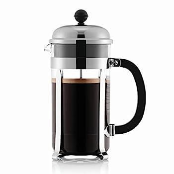 Bodum 1928-16US4 Chambord French Press Coffee Maker 1 Liter 34 Ounce Chrome