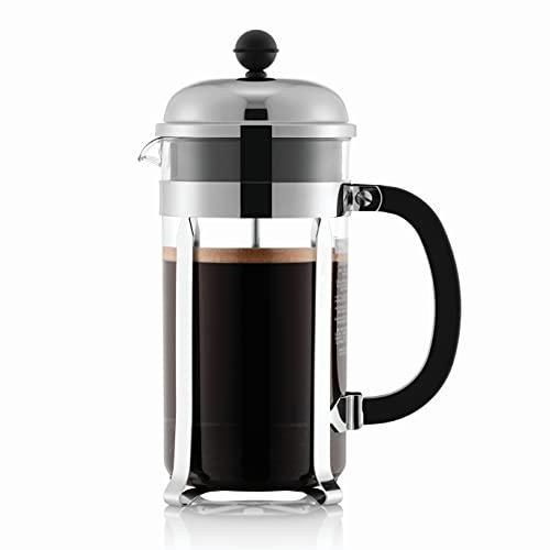 Bodum Chambord French Press 8 Cups 1 L Cafetera émbolo, Acero Inoxidable, Brillante, 1 litro