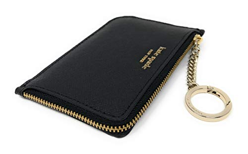 Kate Spade New York Medium L-Zip Card Holder Keychain Black