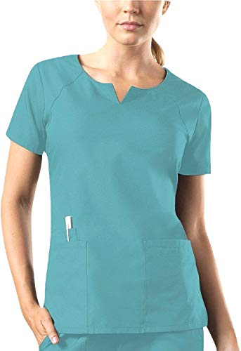 Smart 1706 Round Neck Top (M, Knickente [Teal])