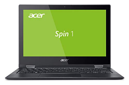 Acer Spin 1 (SP111-33-P00F) 29,5 cm (11,6 Zoll HD IPS) Convertible Laptop (Intel Pentium N5000, 4 GB RAM, 64 GB eMMC, Intel UHD Graphics 605, Win 10 Home im S Modus) schwarz