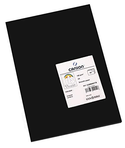Canson Iris - Cartulina, 50 Unidades, Color Negro