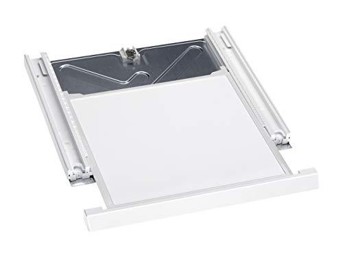Miele Original Zubehör WTV 406 Wasch-Trocken-Verbindungssatz / für sichere und platzsparende Aufstellung einer Wasch-Trocken-Säule / integrierte Arbeitsplatte / 4 cm hoch / Lotosweiß