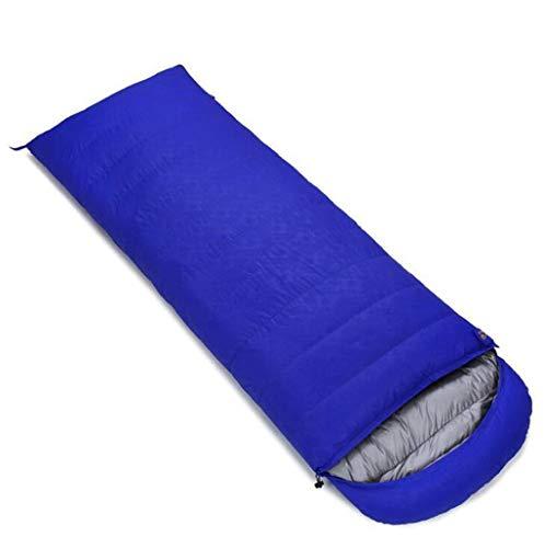 DAFREW Sac de Couchage d'enveloppe, Sac de Couchage extérieur Quatre Saisons avec Sac de Compression (Couleur : Bleu, Taille : 1.8KG)