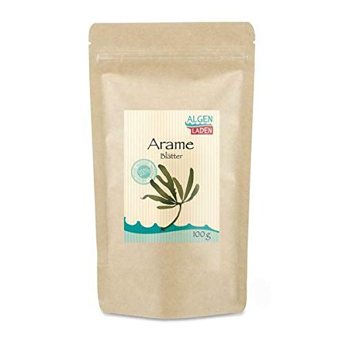 ALGENLADEN Arame Blätter - 100g   Algen aus Japan   Rohkost   Vegan   Low-Carb   asiatisch kochen