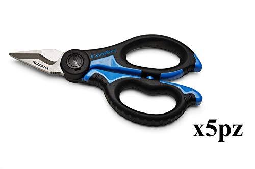 lote paquete de 5unidades cembre SC5X tijeras para electricista Profesional cuchillas de acero templado
