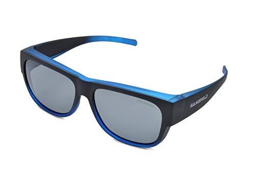 Gamswild WS6020 Überbrille Sonnenbrille Sportbrille Damen Herren Fahrradbrille | braun | blau | bordeaux, Farbe: Blau