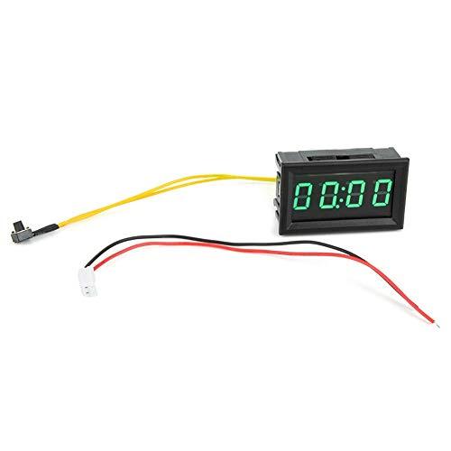 Labuduo Reloj de Coche LED Duradero Universal, Reloj de Coche electrónico Multiusos, Aviones para Coches, Barcos(Green)