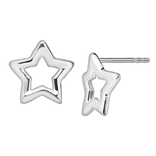 Star-Shaped Sterling Silver Earrings