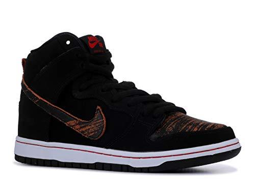 Nike SB Dunk High Pro - Black/University Red-Black 8