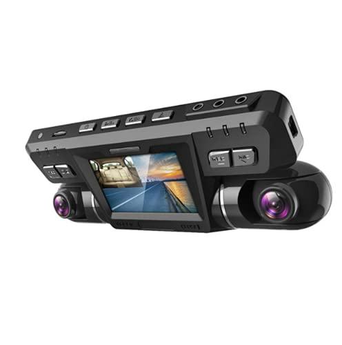 4K WiFi GPS Dash CAM Coche,Frente y Trasera Dobles 360° Rotación 340 Grados Gran Angular Cámara Vigilancia con WDR Visión Nocturna,ADAS,Super Condensador,Detección de Movimiento para Coches