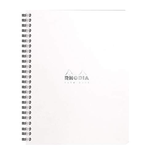 Rhodia Notizbuch, Spiralbindung, A5+, gepunktet, Weiß